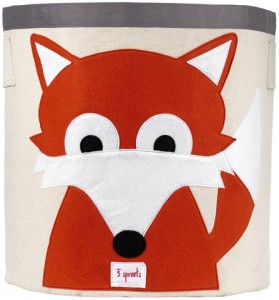 3 Sprouts Fox Storage Toy Bin
