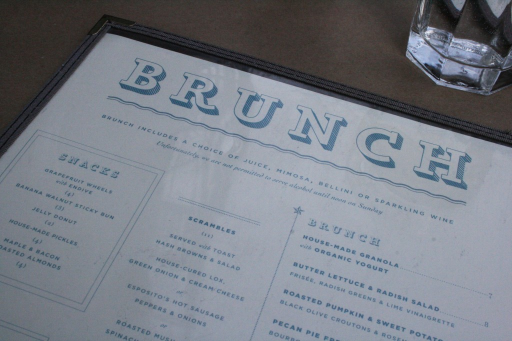 Buttermilk Channel brunch menu