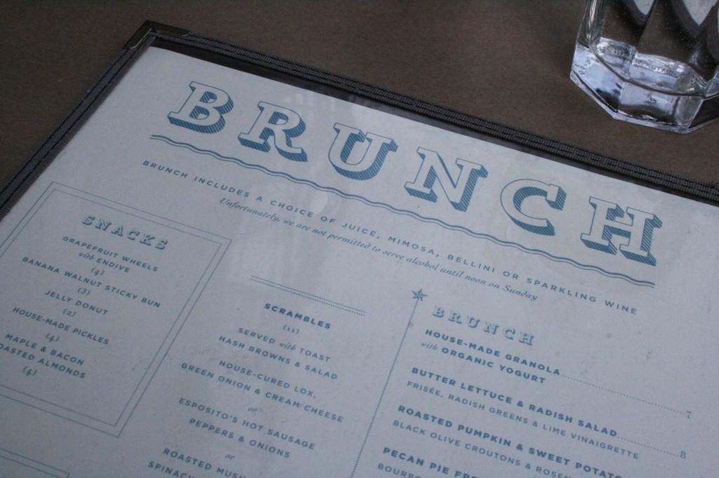 Buttermilk Channel brunch menu