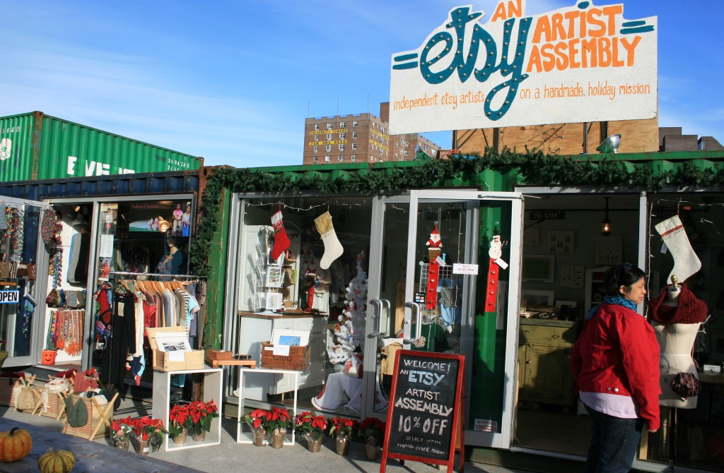 Etsy artist assembly at Dekalb Market in Brooklyn