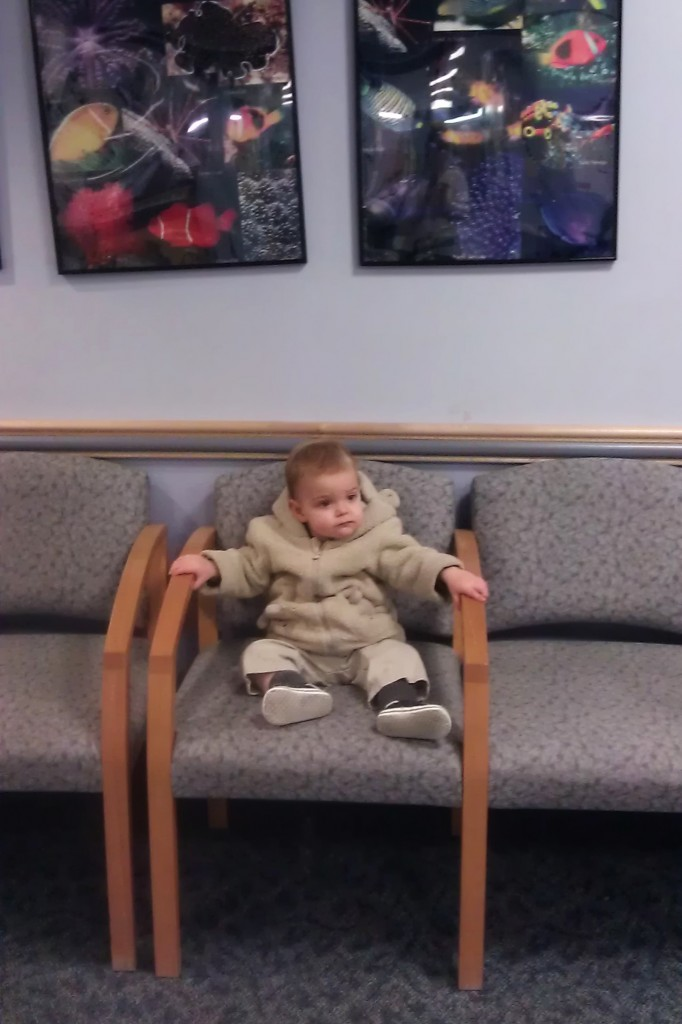 9:55 a.m. Just waiting for his appointment, like it's regular.