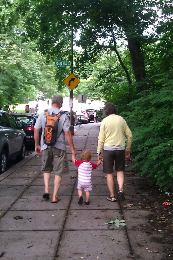 Pappy and Grandmama swung Soren along.