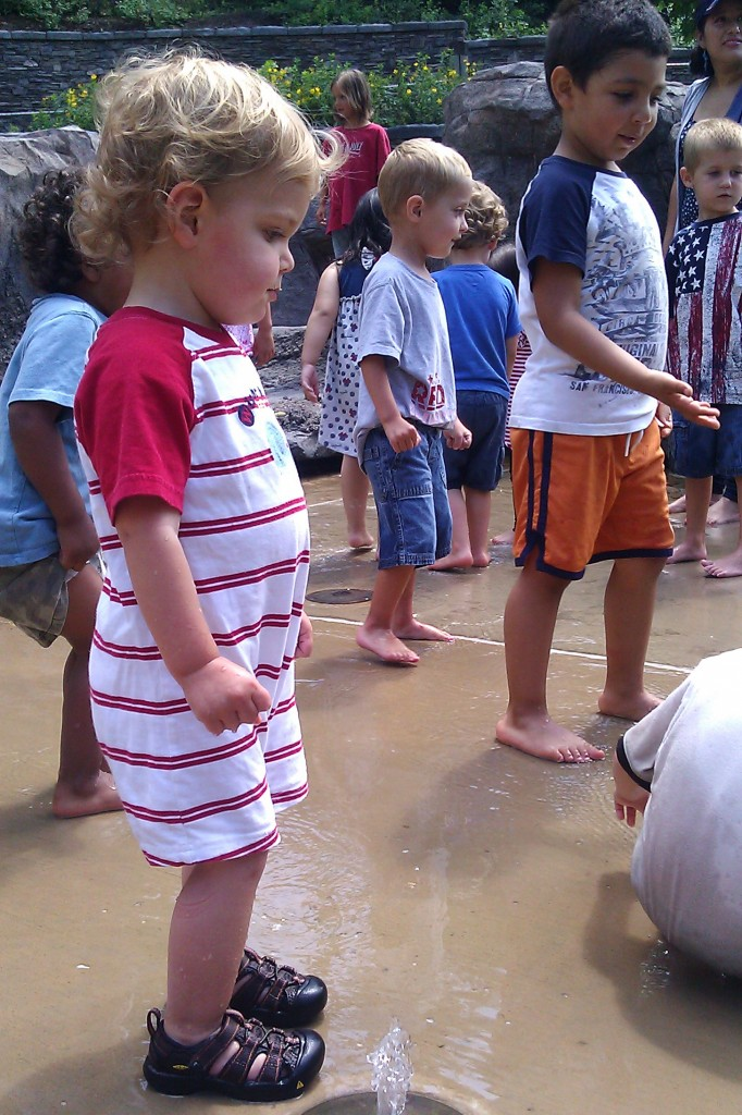 The kids went nuts for the fountain-filled tide pool by the seal exhibit. Every few minutes a giant gush of water poured down the rocks for the littles to splash in.