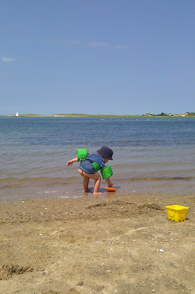 After the first poop in his swim diaper, we decided to turn Gray's into a nude beach.