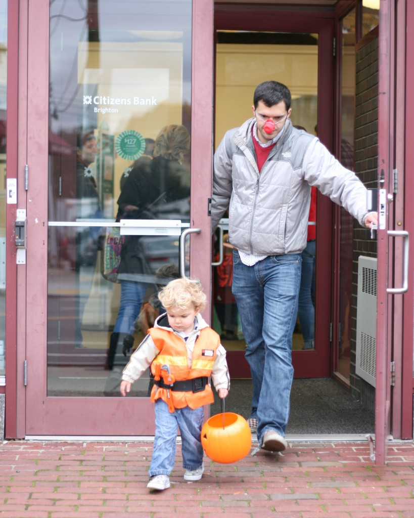 We do our trick-or-treating on Washington Street, along with a few hundred other neighborhood kids. Trick-or-treating at 4 p.m. is fine by me!