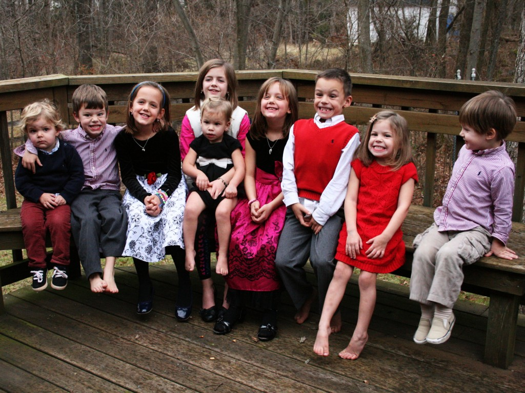 Had to get one more shot of all nine grandkiddies together.