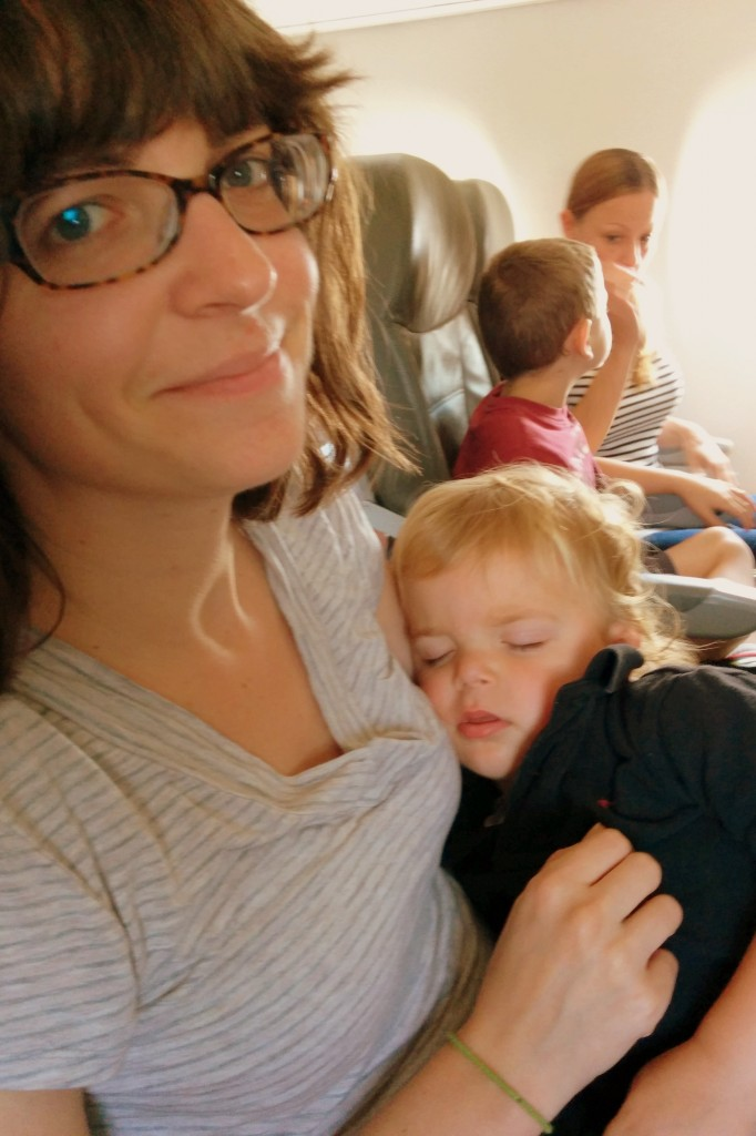 All my snuggle dreams came true when Soren fell asleep while nursing on the plane. He hasn't fallen asleep during milk time since he was teeny tiny!