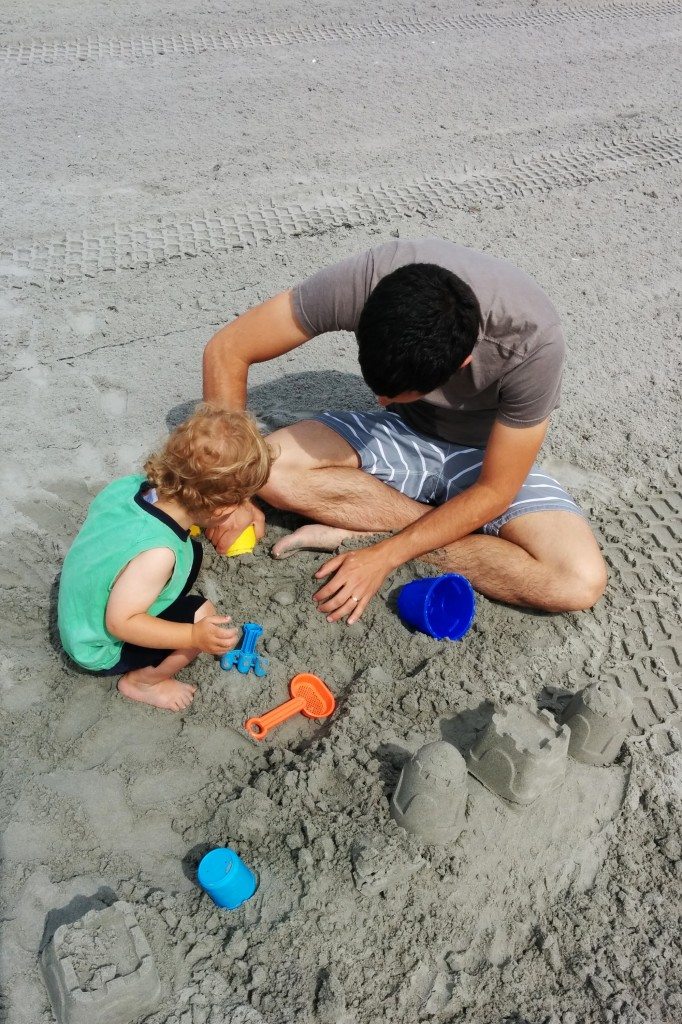 This was our first real beach day of the year, and Soren quickly learned to love the sand.