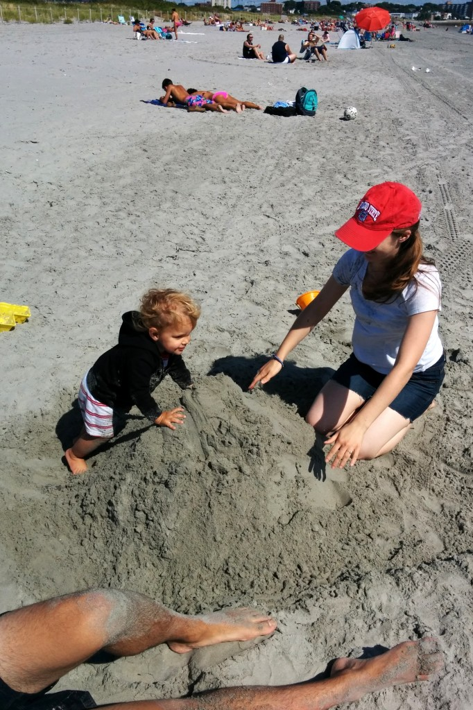 And then, our final beach visit in August. We brought Rachael and Job to Nahant, and Soren loved having additional playmates.