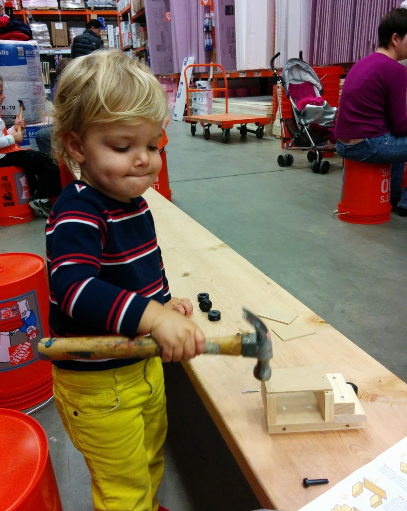 Looks like he even got to use real tools!