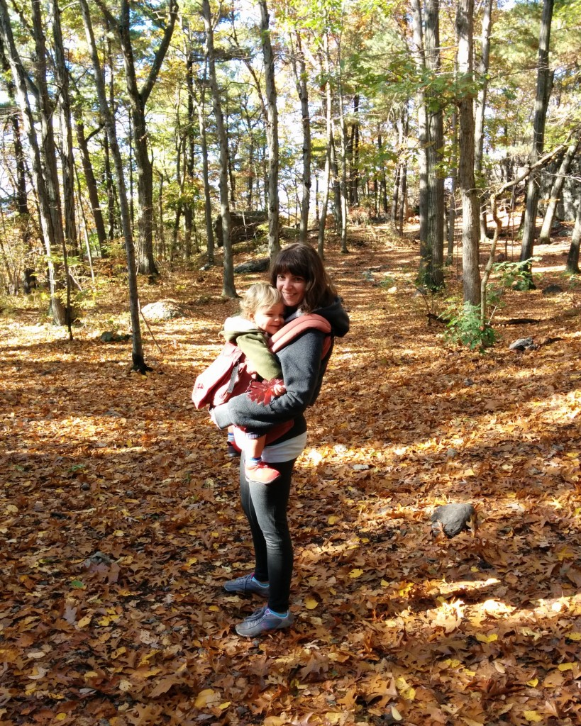 Sunday was also the kickoff of International Babywearing Week, so we busted out the Ergo. Too bad this giant baby refuses to be back-carried.