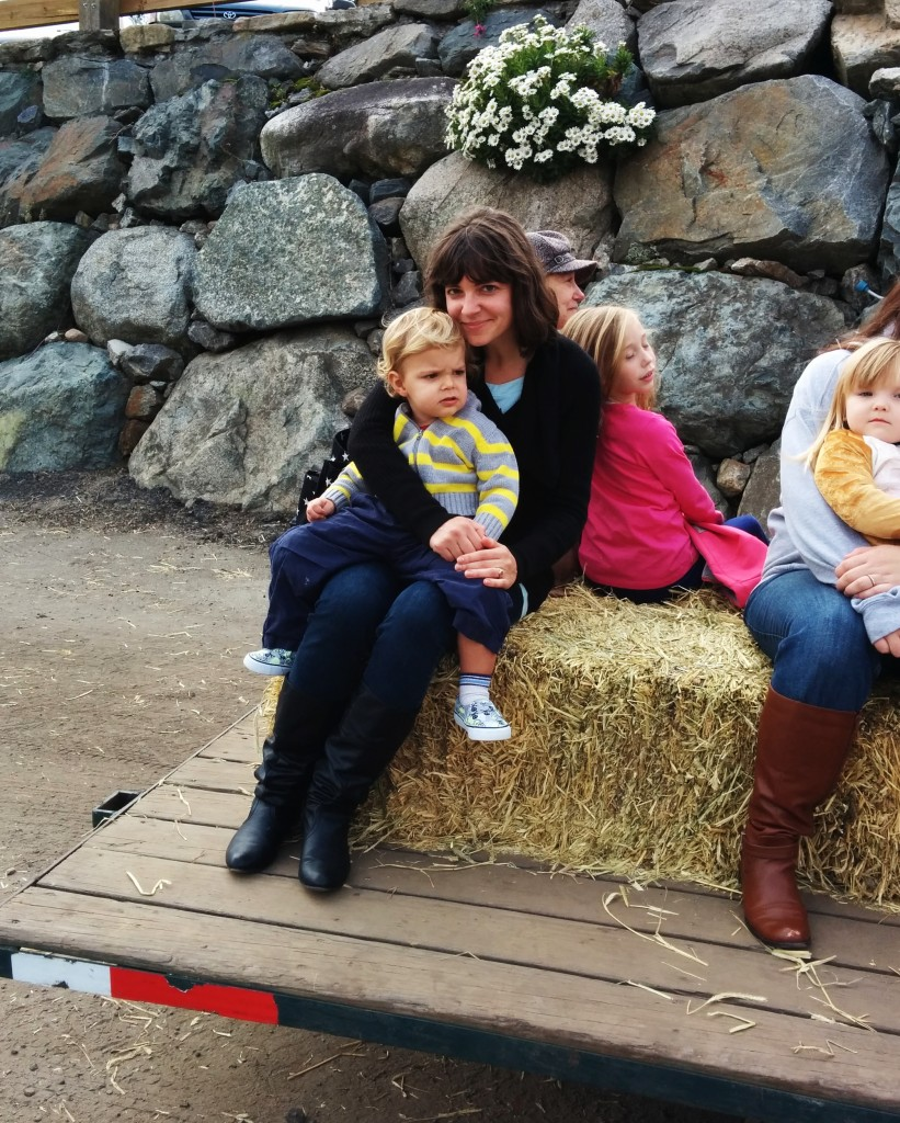 Soren was REALLY sad when the hayride ended. His love for tractors surpasses all.