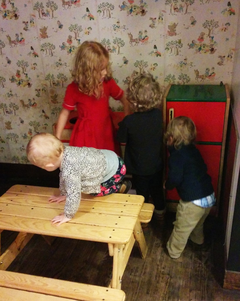 Best of all, the kids can entertain themselves in the play space under the stairs!