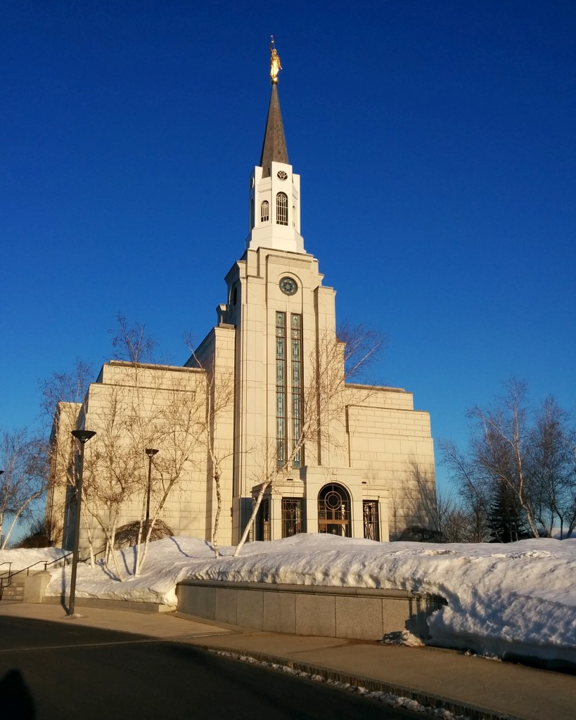 Getting to the temple as it opens is always a good start to the day. Brightest blue skies ever at 6:45 a.m.!