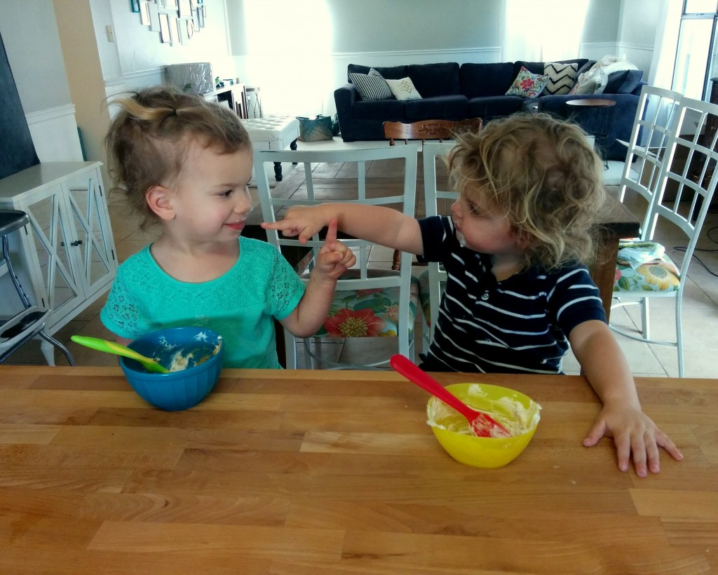 "These two didn't spend much time together, but they did meet for snack time one day. ""You have yogurt on your face!"""