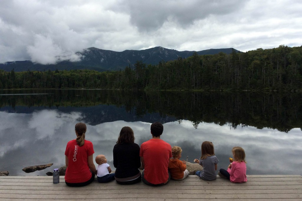 We had a few Boston friends join us at Butterhill. On Saturday morning we took a hike to Lonesome Lake.