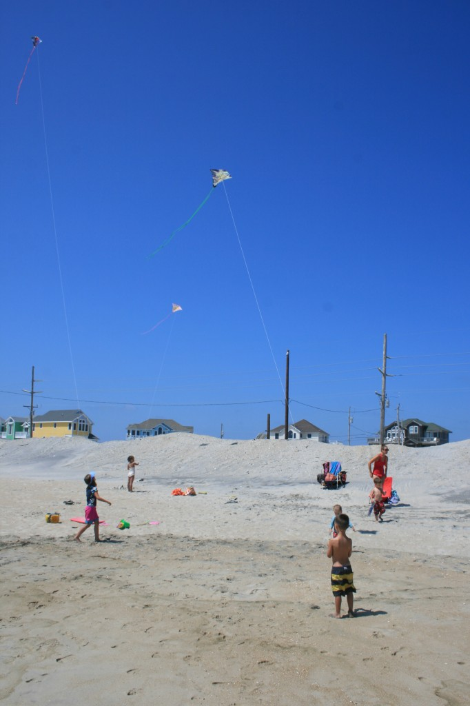 Kite flying.