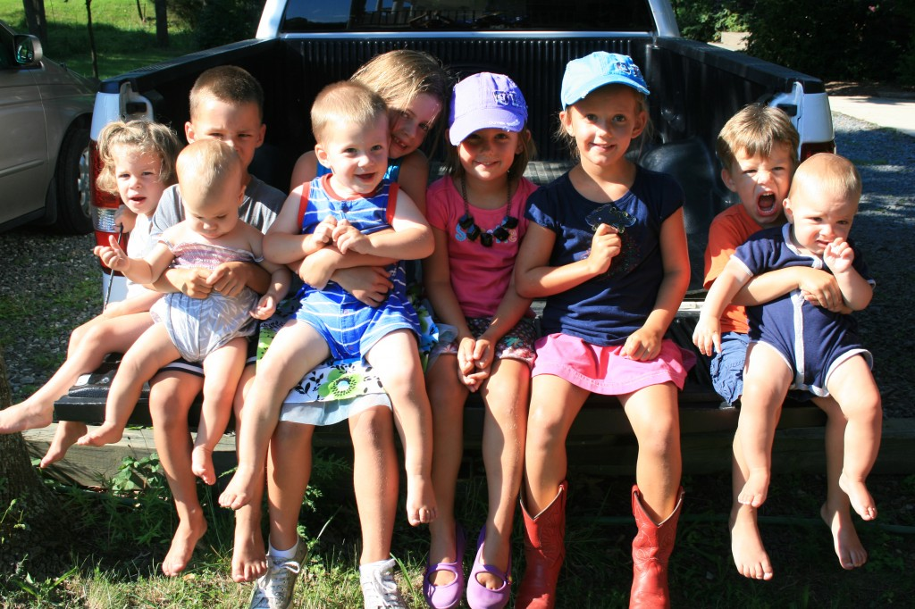 Another successful cousins picture. Where else but in Pappy's truck?