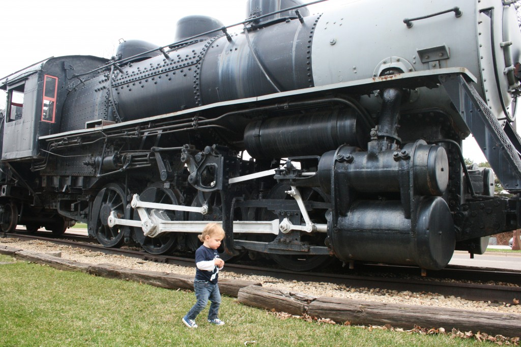 After the zoo and gardens, Soren didn't think it was possible that his day could get any better. And then Aunt Rita took us to see trains!