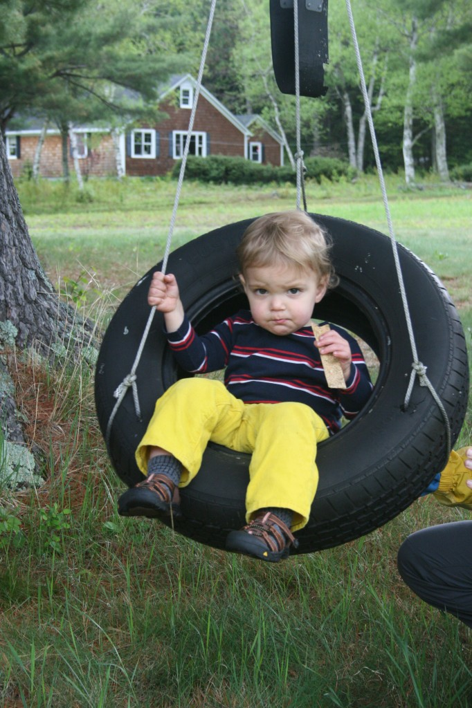 Tire swings and za'atar crackers -- two of Shauna's favorite things.