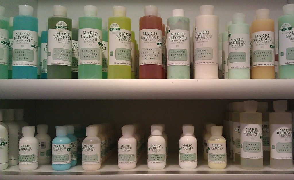 Mario Badescu skin care products at Flight 001 in Brooklyn