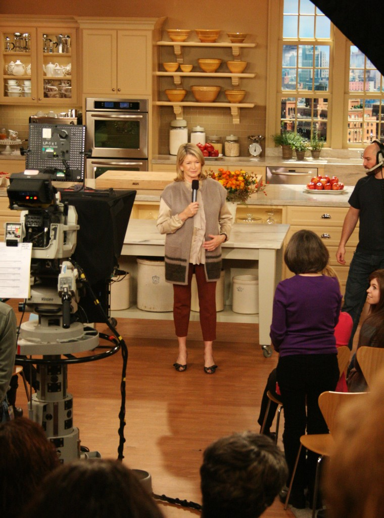 Martha Stewart Show — live taping in New York