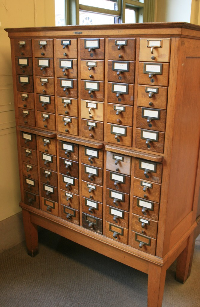 card catalog at Boston Public Library in Copley Square