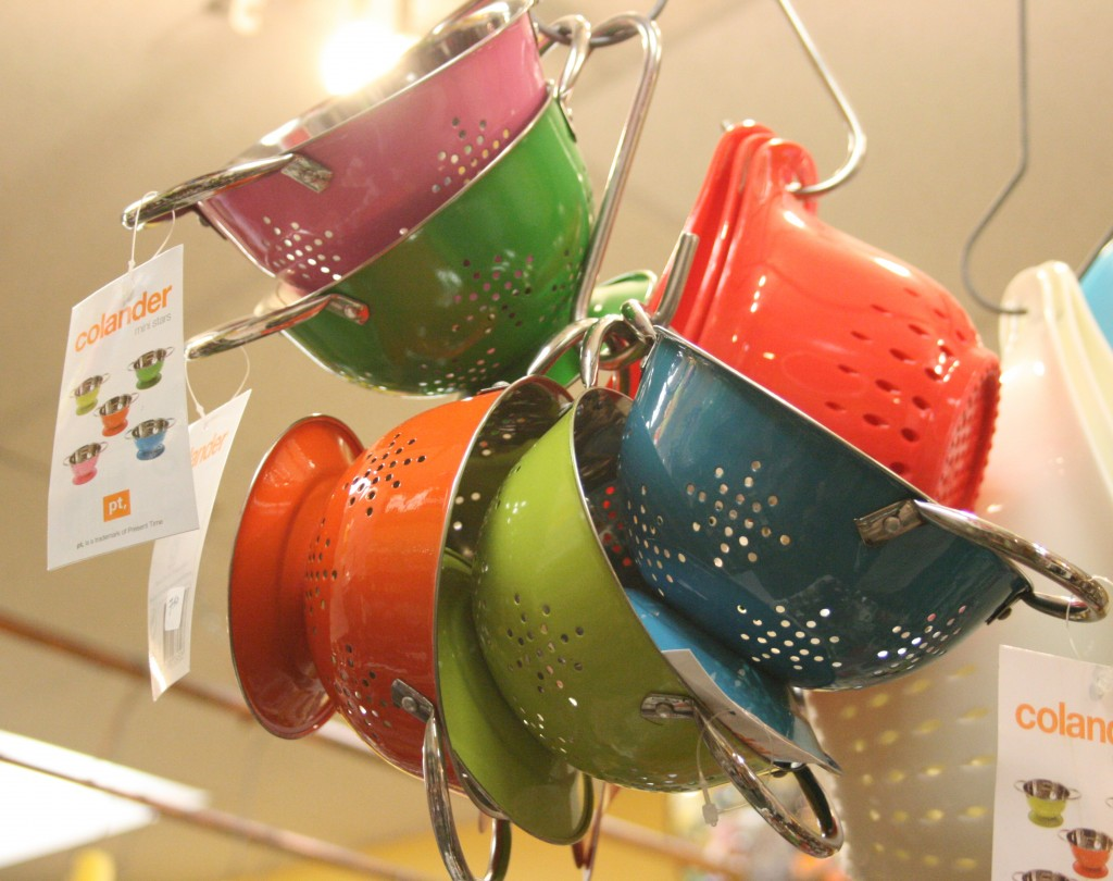 colanders at Kitchenwitch in Jamaica Plain