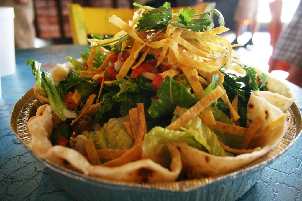 pork barbacoa salad from Cafe Rio in Manassas, Virginia