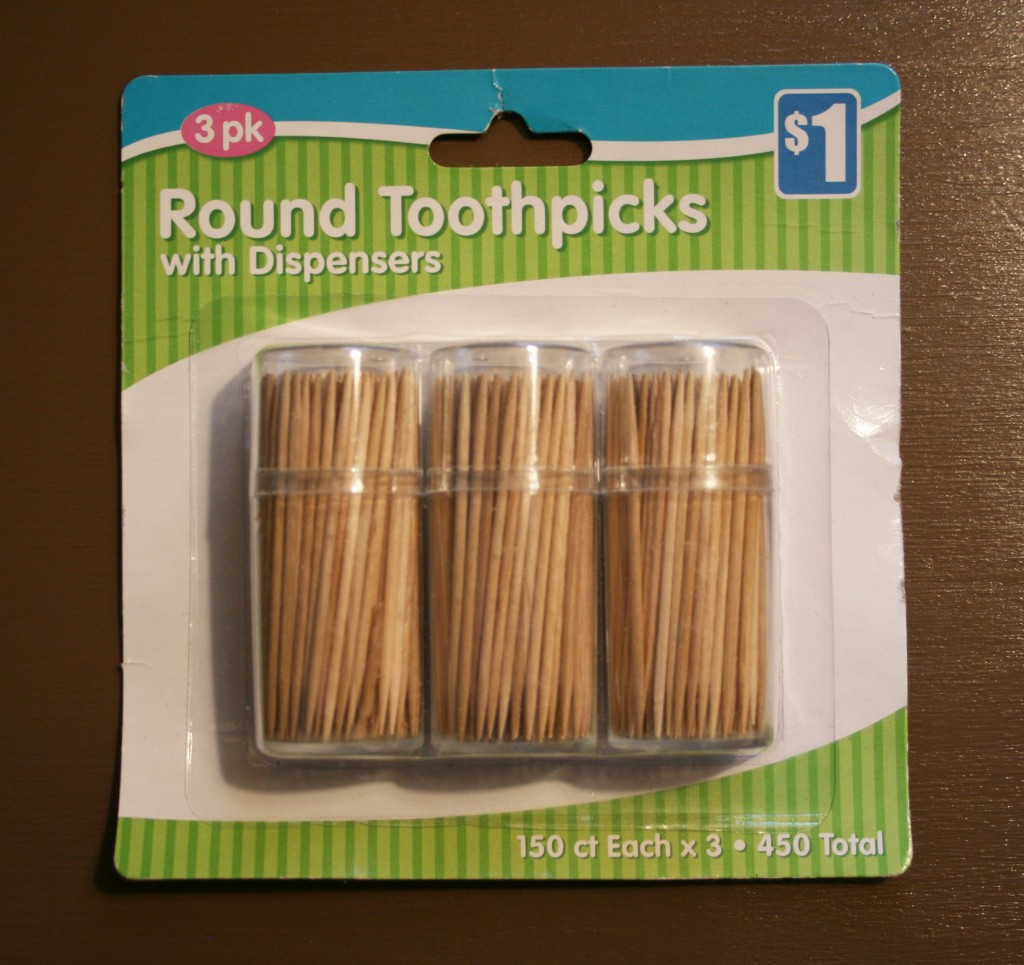 round toothpicks from Shaw's