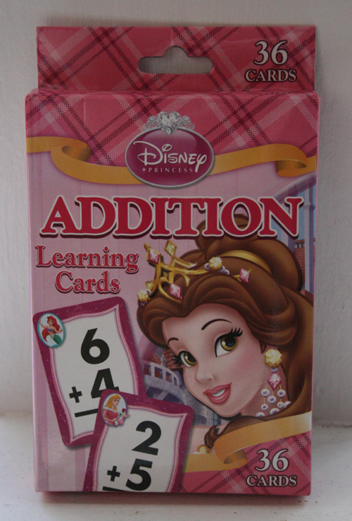 target disney princess math cards