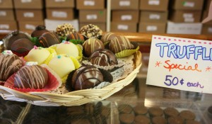 Truffles from Wilbur's of Maine Chocolate Confections.